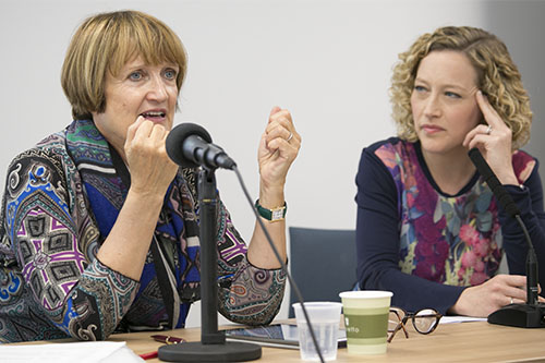 Tessa Jowell and Cathy Newman
