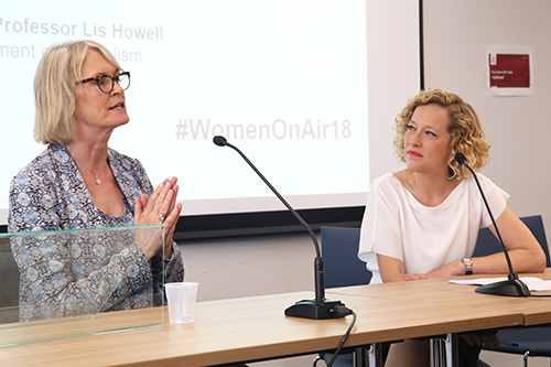 Margot James and Cathy Newman